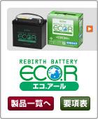 乗用車向けカーバッテリーGS YUASA エコアールIS(ECO.R)