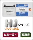 プリウスなど特型品対応カーバッテリーGS YUASA HJシリーズ