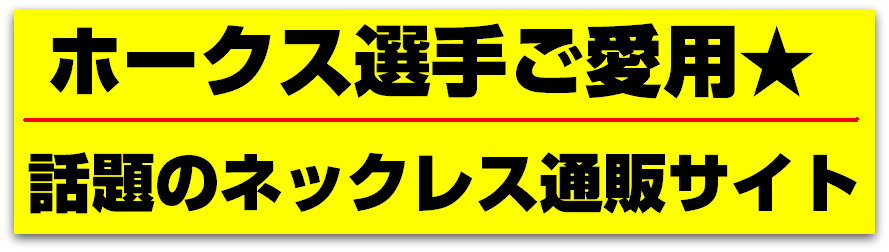 ホークス選手ご愛用★話題のネックレス直販サイト