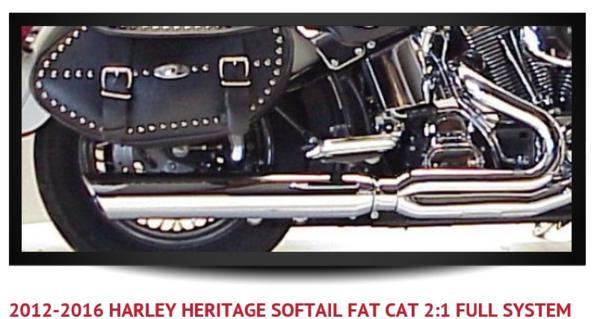D&amp;D Fat Cat フルエキ Harley Heritage Softail 12-16 580-32BBQ Part Number: 580-32BBQ 管理コード:g-k 1972年にデビッド・ラッシュは自らレースで勝つためにエキゾーストマフラーを設計、開発しました。 <br>それから40年で250,000本ものモーターサイクルエキゾーストマフラーを製造販売し D&Dエキゾーストシステムは、世界でも有数のパフォーマンスを持つマニファクチャーとなりました。 <br>全てのフルエキゾーストとスリップオンは業界初の高精度排気ヘッダーモデリングシステム、最先端のCADソフトウェアと仮想ダイノプログラムそして実際のダイナモ解析、排気ガス分析装置、排気温センサー、サウンド解析装置を使用してテストされ、完璧なパフォーマンスを確保しています。 <br>同社のスリップオンシステムは交換のみにより平均でエンジン最高出力は5%程度の向上が期待できます。 <br>■Fat Cat(ファットキャット)シリーズについて<br>Fat Catは2into1フルシステムのマフラーです。フルシステム エキゾースト<br>配管レイアウト:2-1 右側一本出し<br>材質:クロームポリッシュ仕上げステンレススチール<br>エンド形状:バックカット<br>サイレンサー内部形状:Perforated wrapped ■Perforated wrapped baffle(パフォレーテッド・ラップド・バッフル)について<br>Perforated wrapped baffleは中程度の音量のバッフルで、1573cc~1852ccのエンジン搭載車に適合します。参考音量<br>Perforated wrapped :<br>Idle 96 Db <br>2000 103 Db<br>3000 108 Db<br>こちらのマフラーと燃調を最適化することで最大15%程度の馬力とトルクの向上が実現します。<br>(Zipper's HiFlow Air Cleaner or Max Flow Air Cleaner 使用でのメーカー側公式発表数値)<br>D&D製品詳細は以下をご参考下さい。 <br>http://globalmotoronline.com/DandD/aboutDandD.htmlサウンドは以下の動画をご参考下さい。動画内の製品は対象製品と異なります。 <br>https://youtu.be/qANAfcIkflo競技走行専用設計品<br>適合 <br>Harley Davidson FLSTC Heritage Softail 2012-2016年式<br><br>発送詳細<br><br>メーカーお取寄せ<br>お届けまでの日数:通常20日※<br><br>※メーカー側に在庫が無い場合は、 受注生産となります。<br>納期は1ヶ月前後となります。