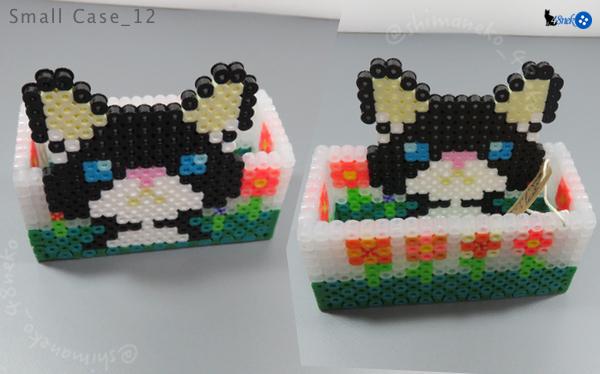 12白黒猫/お花箱