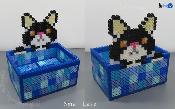 白黒猫/ブルー箱