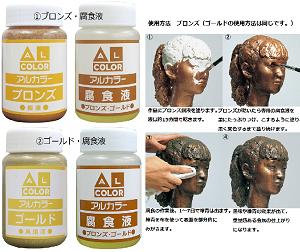 「腐食・緑青効果」アルカラー(ブロンズセット/ゴールドセット) 仕上げ剤/パジコ