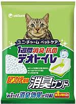 閉めきったお部屋でも、1週間ニオわない 『1週間消臭・抗菌デオトイレ』の取りかえ専用消臭サンド       ● 約1ヶ月間交換不要。※1   ● シリカパワーで、いつもサラサラで清潔。   ● オシッコを瞬時に通過させるので、固まりの取り除きはいりません。   ● ゴミの量も普通の砂と比べて、軽減されます。    ※ 1.愛猫1匹(8㎏までの)デオトイレ使用時。   ※ ウンチは付属のスコップで取り除いてください。   ※ 本品は必ず『1週間消臭・抗菌デオトイレ』の専用トレイ・専用消臭サンド・専用消臭シートの3品をセットでご使用ください   ※ 本品のみでは機能せず使用できません