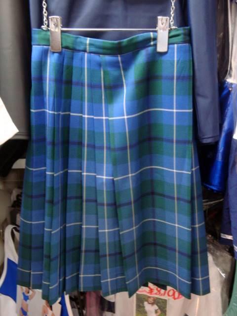 巻きスカート風の冬スカート