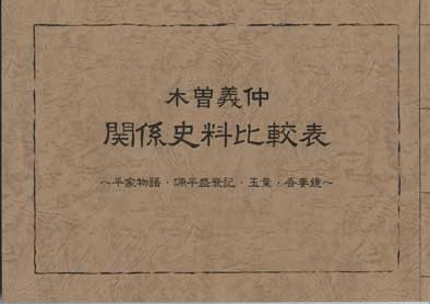 義仲研究に『平家物語』『源平盛衰記』『玉葉』『吾妻鏡』は必須アイテム。しかしながらこれらを全部揃えるのは大変で、しかも原文はほとんどが漢文形式で難読そのもの。そこで義仲関連部分を抽出してまとめられないかという史学会会員からの熱望により刊行できました。