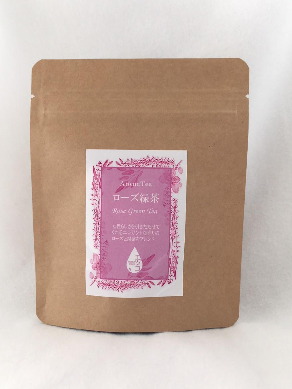 レッドローズペダル、緑茶 50g