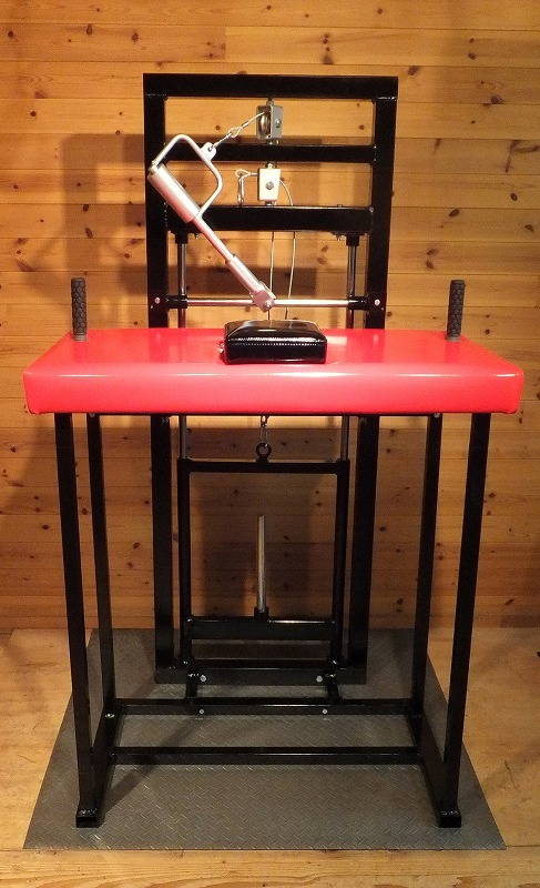 最強アームレスラー養成マシン!φ50mmローリングハンドルとφ50mmリストローラーが標準装備されていますので吊り、噛みのトレーニングが出来ます。