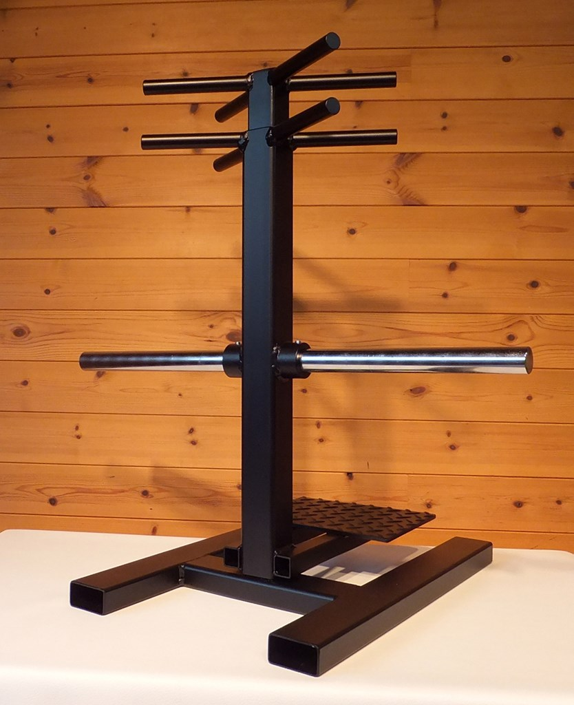 握力王を目指せ!!<br>下台 奥行50cm 幅35cm 高さ61cm、ステップ付き、握り部分 19mm~25mmオーナー希望に変更可能 ハンドルカットも可能です!製品重量15kg プレート別<br>プレートシャフトは28mmクロームメッキ仕上げ<br><br>