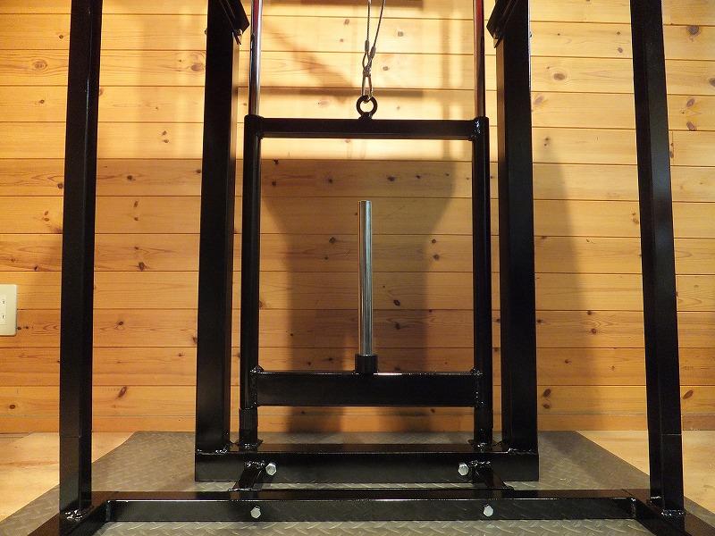 15kgプレートサイズまで対応 90kgまで加重できます