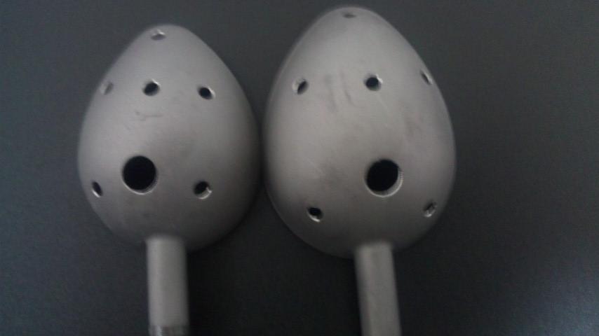 チタンカップ16ml(S~M)・23ml(M~L)オリジナル穴あけ加工 杓立てからの水切り・振り抵抗の軽減・エサ離れ・強度残存