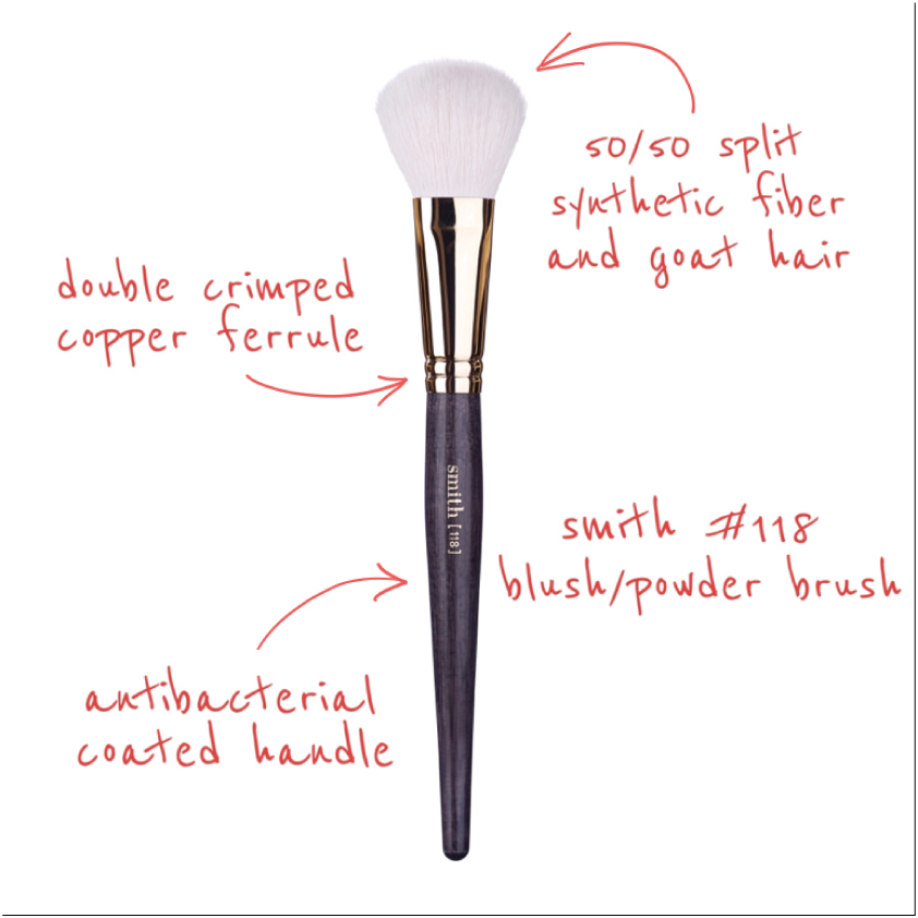 """<div style=""""font-size: 13.3333px;"""">入荷しました!</div><div><font face=""""Arial, Verdana""""><span style=""""font-size: 13.3333px;"""">SmithCosmetics 118 BLUSH/POWDER BRUSH</span></font><div><p class=""""comment1"""" style=""""margin: 0px 0px 10px; padding: 0px; color: rgb(68, 68, 68); font-family: Verdana, Ariel, Helvetica, メイリオ, Meiryo, &quot;MS Pゴシック&quot;, sans-serif; font-size: 13px; background-color: rgb(255, 255, 255);""""><font face=""""Arial, Verdana""""><span style=""""font-size: 13.3333px;"""">職人肌のトップメイクアップアーティストの為のプロ用メイクブラシの最高峰です。</span></font></p><p class=""""comment1"""" style=""""margin: 0px 0px 10px; padding: 0px; color: rgb(68, 68, 68); font-family: Verdana, Ariel, Helvetica, メイリオ, Meiryo, &quot;MS Pゴシック&quot;, sans-serif; font-size: 13px; background-color: rgb(255, 255, 255);""""><font color=""""#444444"""" face=""""Arial, Verdana""""><span style=""""font-size: 13.3333px;"""">#118ブラッシュ/</span></font><font color=""""#444444"""" face=""""Arial, Verdana""""><span style=""""font-size: 13.3333px;"""">パウダーブラシ</span></font></p><p class=""""comment1"""" style=""""margin: 0px 0px 10px; padding: 0px; color: rgb(68, 68, 68); font-family: Verdana, Ariel, Helvetica, メイリオ, Meiryo, &quot;MS Pゴシック&quot;, sans-serif; font-size: 13px; background-color: rgb(255, 255, 255);""""><span style=""""font-size: 13.3333px; font-family: Arial, Verdana;"""">ブラッシュとパウダーを肌に混ぜ込むのに最適なこのブラシは、高品質のヤギの毛と合成繊維の50/50の混合物である長くて柔らかい毛を特徴としています。</span></p><p class=""""comment1"""" style=""""margin: 0px 0px 10px; padding: 0px; background-color: rgb(255, 255, 255);""""></p><p class=""""comment1"""" style=""""margin: 0px 0px 10px; padding: 0px; background-color: rgb(255, 255, 255);""""><font color=""""#444444"""" face=""""Arial, Verdana""""><span style=""""font-size: 13.3333px;"""">製品のペアリング:#118は、液体、クリームまたはパウダーと共に使用できます。</span></font></p></div></div>"""