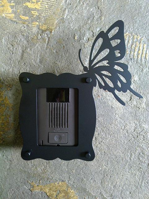 インターホンカバーDタイプ(蝶々)
