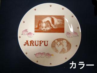 飾り皿 (丸皿)カラー・壁掛け穴