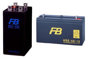 <i>優れた保守性 高率放電特性 コンパクト設計 多彩な容量設計が可能 消防法認定品</i>  30Ah/10HR~3000Ah/10HR 2V.6V.12V