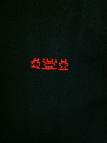 胸部分刺繍
