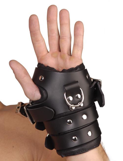 自虐・セルフボンデージ・ 自縛・緊縛・BDSM・拘束アナルファッキングマシーン ストリクトレザー 4バックルサスペンションカフス