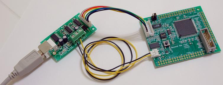 デバック用Uケーブルと接続
