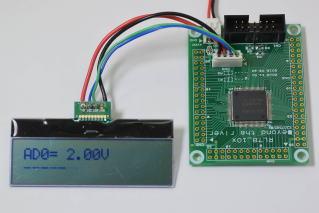 液晶表示器AQM1602XAと接続
