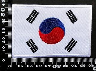 韓国 韓流 国旗 ワッペン パッチ 09860