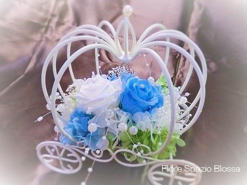 """■17×17㎝<br /><br />~花嫁さんを幸せにするSomething Blue~<br /><br />結婚式の日、<br />花嫁さんは""""何か1つ青い物を""""持って行くと、<br />幸せになれる!・・・昔からの、言い伝えだそうですよ~★<br /><b><font color=""""#FF0000""""><br />★ 人気商品 ★</font></b><br /><br /><br />"""