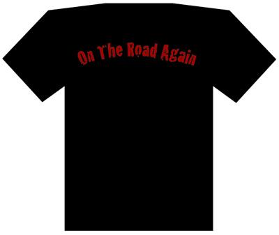 バックプリントは「ON THE ROAD AGAIN」
