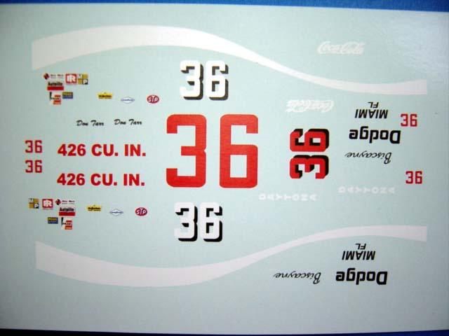 1/32 NASCAR ストックカー・デカール   ★プリマス・スーパーバード用ですが、アレンジしだいで色々なお車にお使いいただけます。 ★1/32スケールです、ご確認の上ご注文下さい。  ウォーター スライドデカール/プラモ・ミニカー・スロットカー用   ★普通郵便でも発送いたします。 ★ 並行直輸入商品に付き為替により毎回価格が変動します。