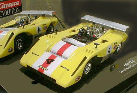 <P>★カレラの最新モデル、ローラT222が入荷しました。</P><P>◆'60~'70代に北米とカナダを転戦する人気のシリーズ「カンナム」は当時のGr-7カテゴリーのマシンで行なわれました。大排気量V8エンジンを搭載し、そのパーワとエキゾーストノートに観客は酔いしれました。◆ディスプレーケースも豪華なこのマシン、飾っても走らせても、楽しめるコレクタブルモデルです。082013</P>