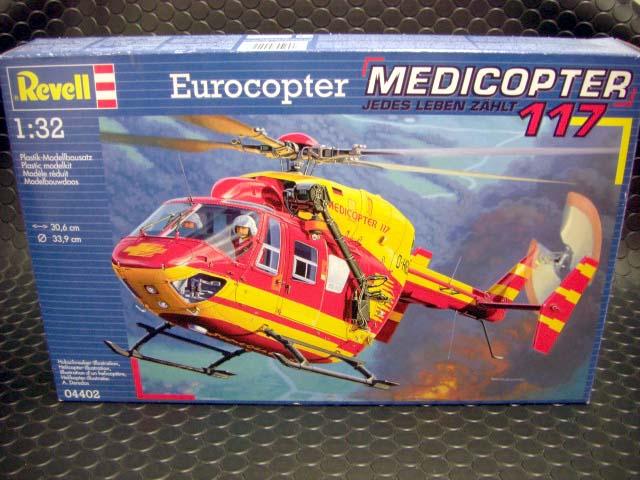 """★Revell 1/32 プラモデルkit お好きな方はどうぞ!<br>◆MEDICOPTER """"Jedel Lerben Zahlt 177"""" ◆輸入物のプラモデルキットです。山岳救助隊のメディカルヘリコプターです。ウィンチやストレッチャーなど医療ヘリの特殊装備満載です。サーキットのドクターヘリとしていかがでしょう?ジオラマ作りの名脇役間違い無しです。"""