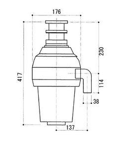 WKI-2600TC-JF寸法図