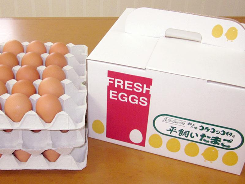 卵専用の箱に入れてお届け致します。