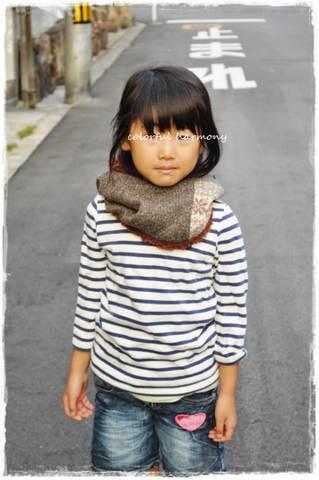 小学校1年生がMサイズを着用しています。