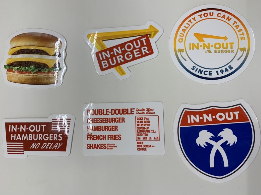 IN-N-OUT STICKER SET(6)