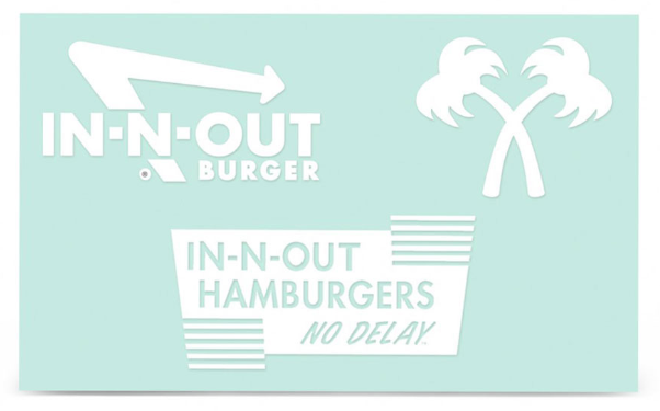 IN-N-OUT STICKER SET(3)