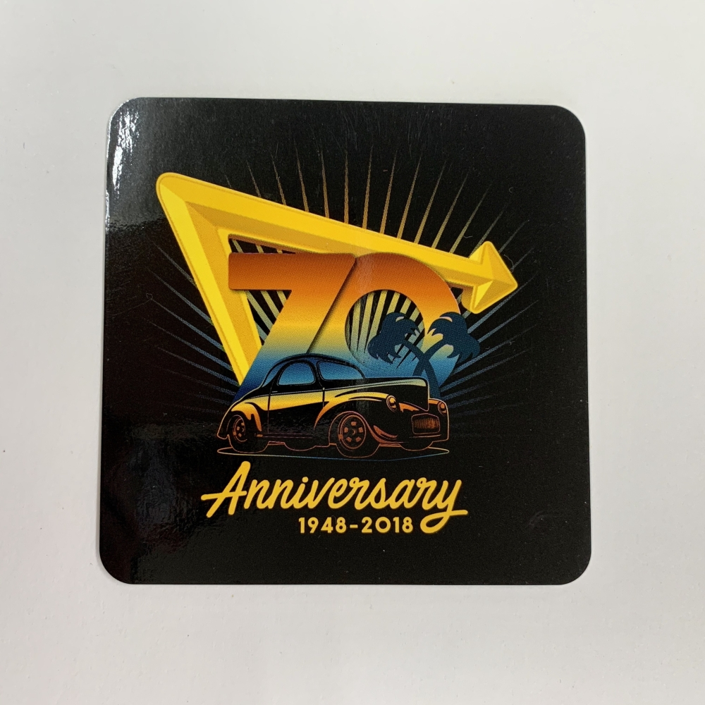 IN-N-OUT 70thANNIVERSARY -STICKER