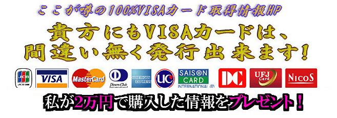 100%VISAカード発行情報 確実 ブラック リスト 破産 クレジットカード ETCカード