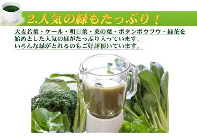 大麦若葉・ケール・明日葉・桑の葉 …… 緑の野菜いっぱい