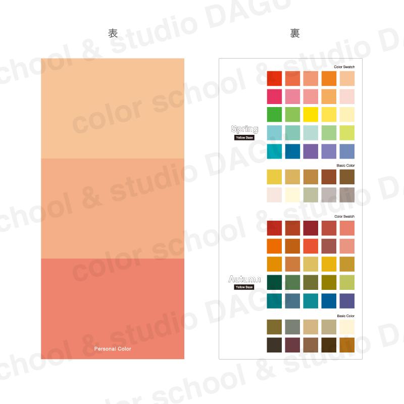 イエローベース用(スプリングタイプ・オータムタイプ各35色)70色