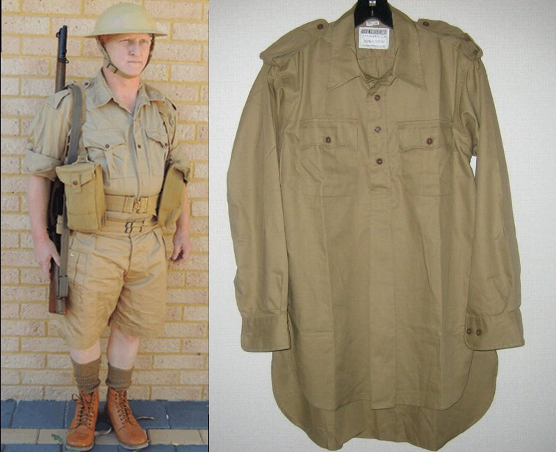 WW2イギリス軍★エアテックス・デザートシャツ★カーキ・ドリル<br>米国リエナクトメーカーが再現した精密リプロです。<br><br>海外お取り寄せの場合<br>納期約2週間~3週間<br><br>