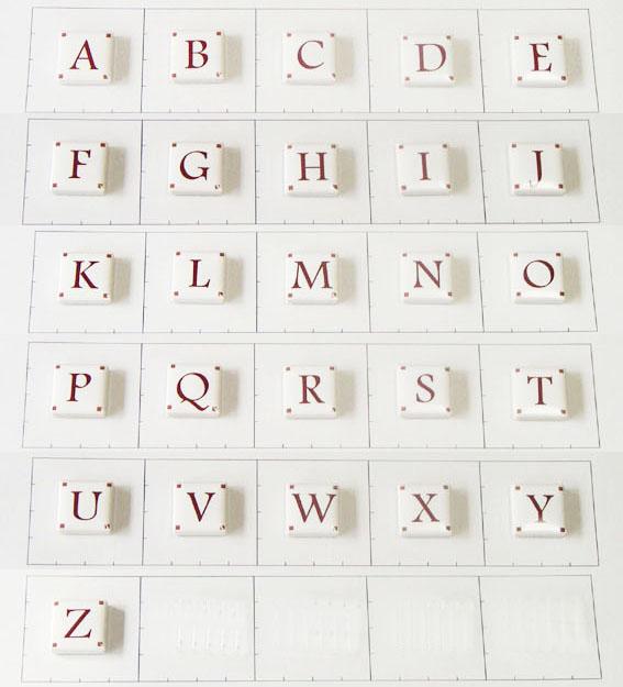 20mm角 アルファベット大文字