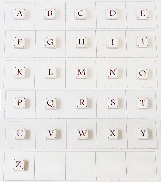 15mm角 アルファベット大文字