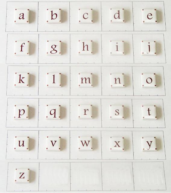 20mm角 アルファベット小文字