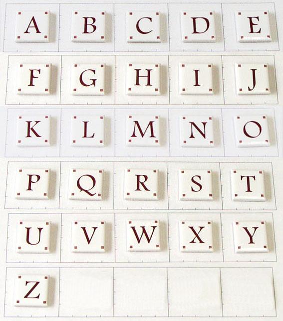 25mm角 アルファベット大文字