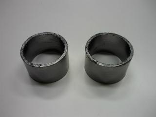 エキゾーストパイプとサイレンサーの間に使用しているガスケット