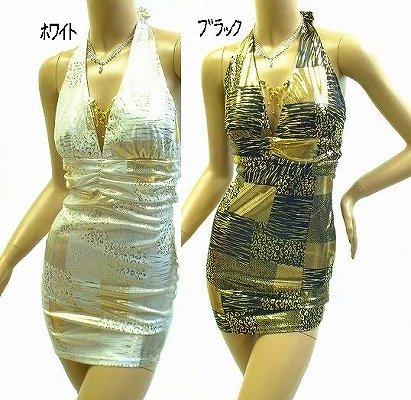 メタリック発色がきれいなミニドレス<br />胸元もキラキラもおしゃれに♪♪♪