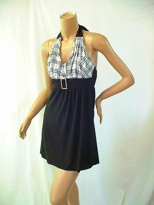 チェックがかわいいストレッチドレス バックルも大きくキラキラ♪♪♪ きゃわいいですよ!!