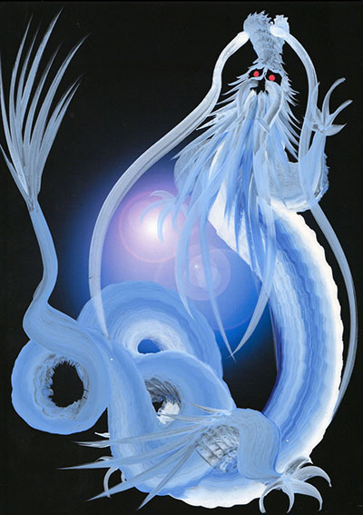 ドラゴンアート特注(青)見本