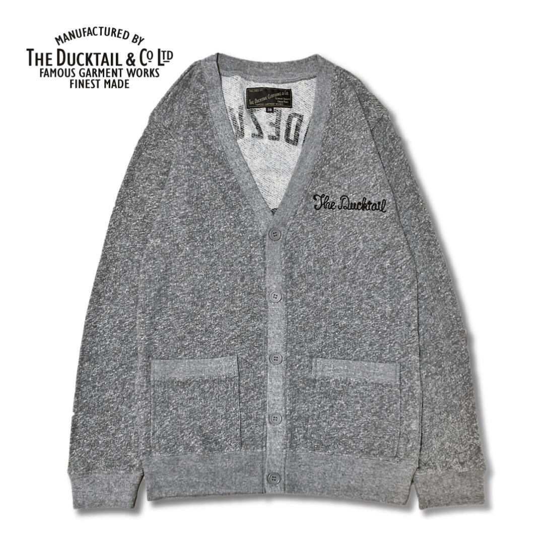 "<font face=""Arial"" size=""2"">DUCKTAIL CLOTHING SWEAT CARDIGAN "" RENDEZVOUS "" HEATHER GRAY</font>"