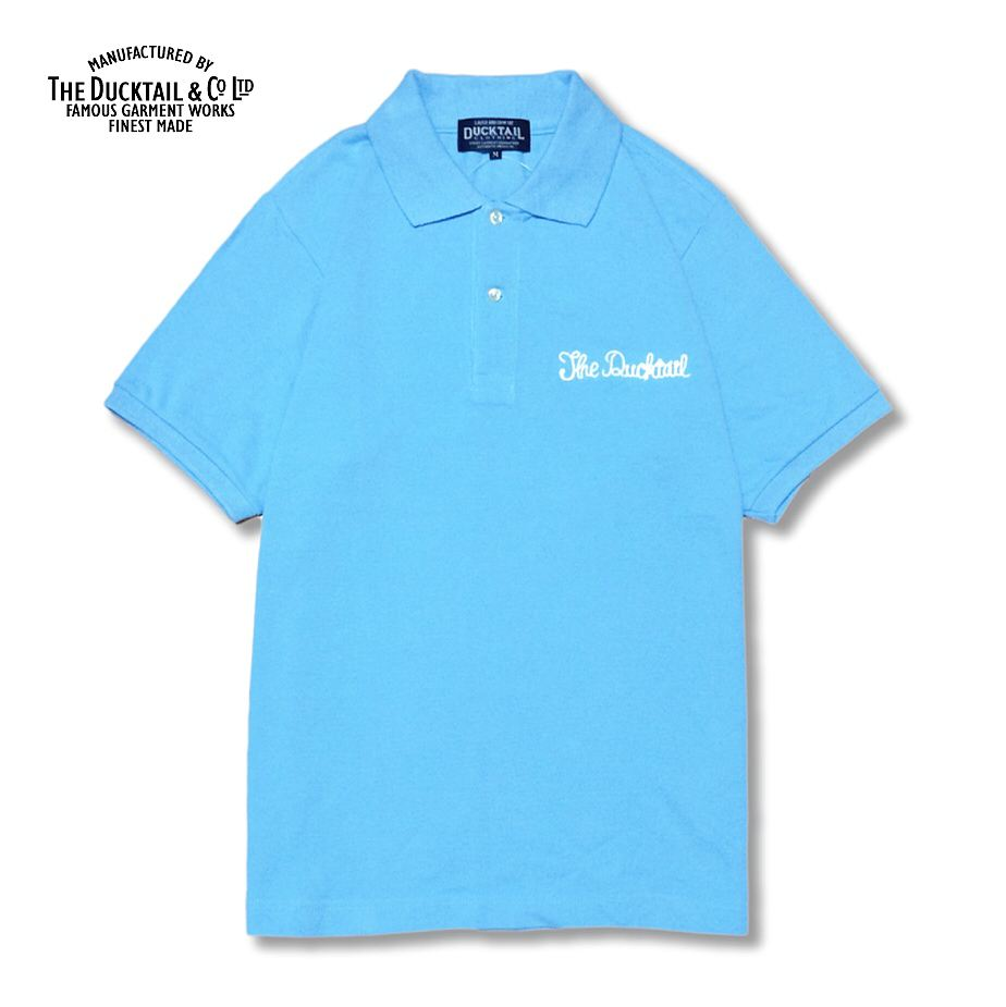 "<font face=""Arial"" size=""2"">DUCKTAIL CLOTHING POLO SHIRT ""PARADISE POLO"" LIGHT BLUE</font>"