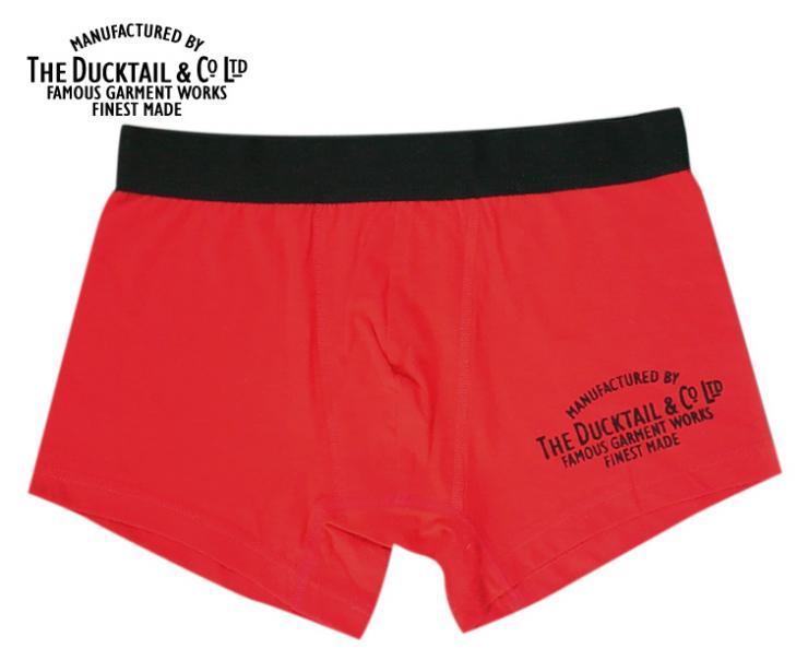 "【 DUCKTAIL CLOTHING(ダックテールクロージング) 】 ""COMPANY BOXERS"" RED ボクサーパンツ レッド"